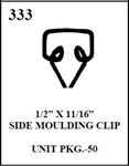 W-E 0333 WIRE MOULDING CLIPS BOX OF 50, SIDE MOULDING CLIP.