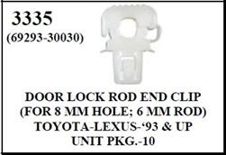 W E 3335 Door Lock Rod End Clip Toyota Amp Lexus